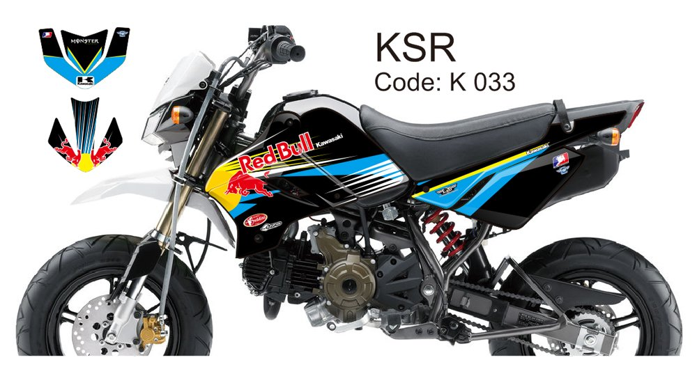 KAWASAKI KSR 2012-2014 GRAPHIC DECAL KIT CODE.K 033