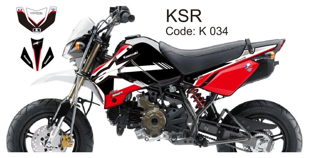KAWASAKI KSR 2012-2014 GRAPHIC DECAL KIT CODE.K 034