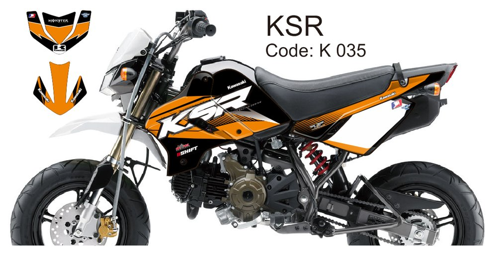 KAWASAKI KSR 2012-2014 GRAPHIC DECAL KIT CODE.K 035
