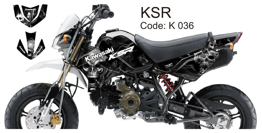 KAWASAKI KSR 2012-2014 GRAPHIC DECAL KIT CODE.K 036