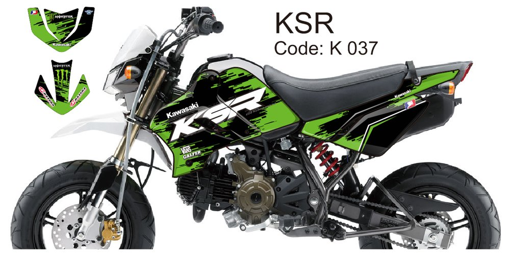 KAWASAKI KSR 2012-2014 GRAPHIC DECAL KIT CODE.K 037