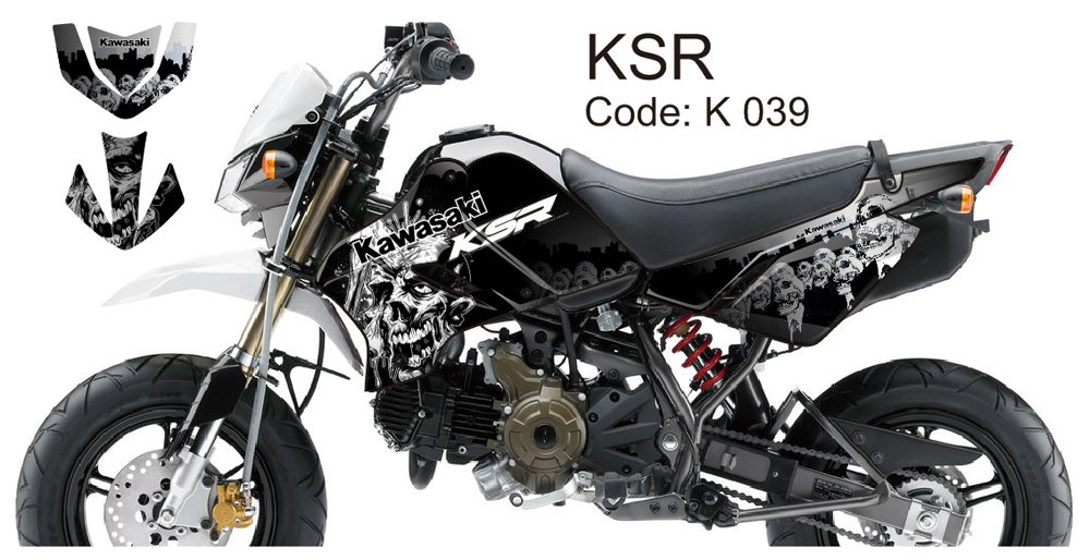 KAWASAKI KSR 2012-2014 GRAPHIC DECAL KIT CODE.K 039