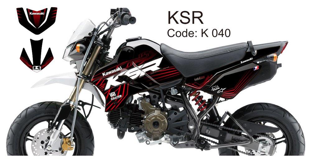 KAWASAKI KSR 2012-2014 GRAPHIC DECAL KIT CODE.K 040