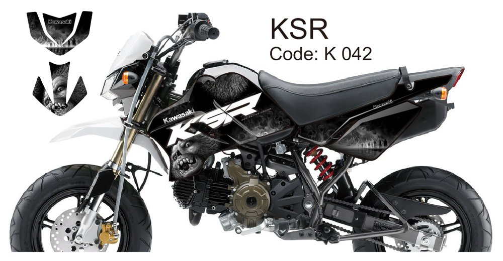 KAWASAKI KSR 2012-2014 GRAPHIC DECAL KIT CODE.K 042