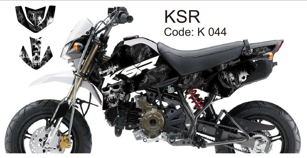 KAWASAKI KSR 2012-2014 GRAPHIC DECAL KIT CODE.K 044