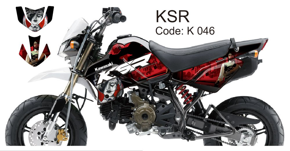 KAWASAKI KSR 2012-2014 GRAPHIC DECAL KIT CODE.K 046