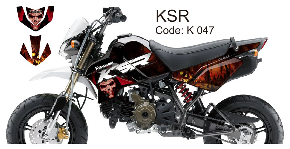 KAWASAKI KSR 2012-2014 GRAPHIC DECAL KIT CODE.K 047