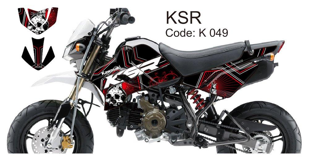 KAWASAKI KSR 2012-2014 GRAPHIC DECAL KIT CODE.K 049
