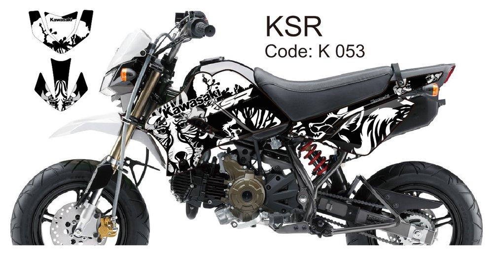 KAWASAKI KSR 2012-2014 GRAPHIC DECAL KIT CODE.K 053