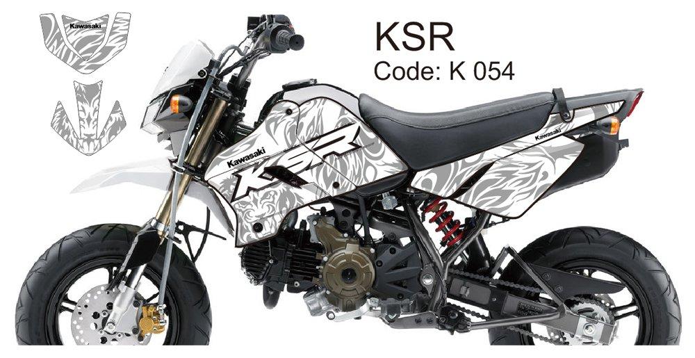 KAWASAKI KSR 2012-2014 GRAPHIC DECAL KIT CODE.K 054