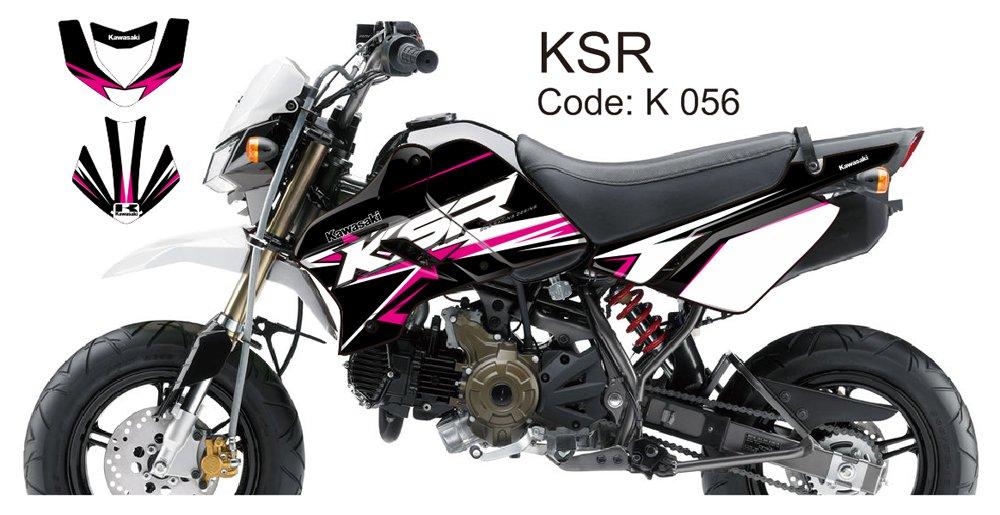 KAWASAKI KSR 2012-2014 GRAPHIC DECAL KIT CODE.K 056
