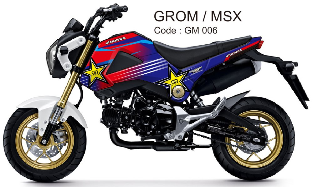 HONDA GROM 125 / MSX 125 GRAPHIC DECAL KIT CODE.GM 006