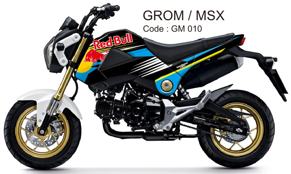 HONDA GROM 125 / MSX 125 GRAPHIC DECAL KIT CODE.GM 010