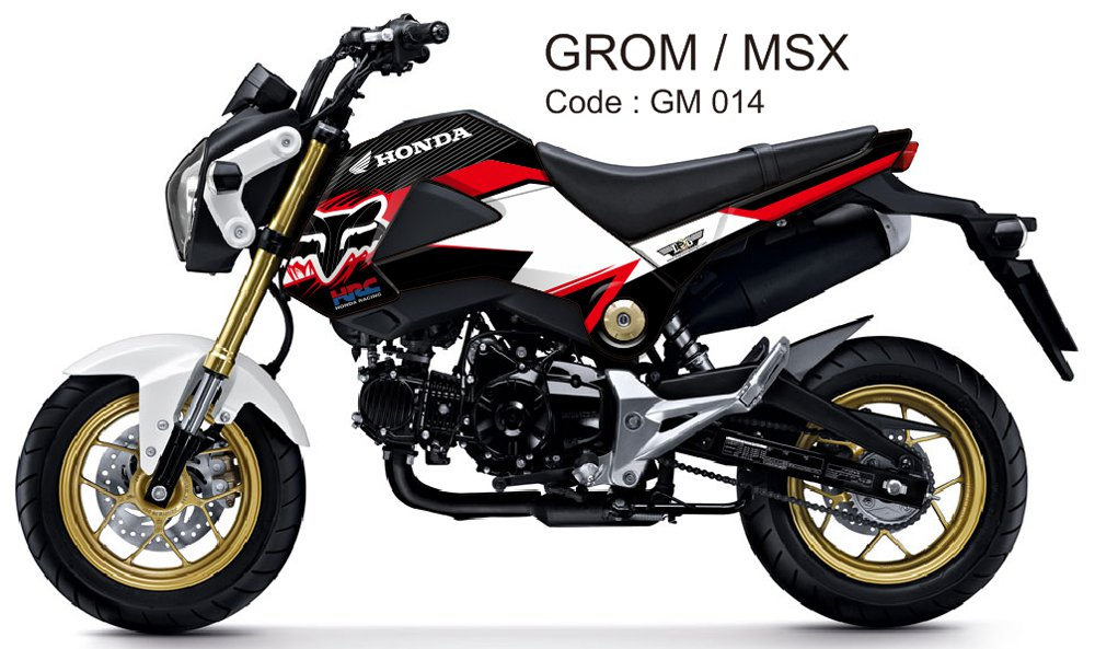 HONDA GROM 125 / MSX 125 GRAPHIC DECAL KIT CODE.GM 014