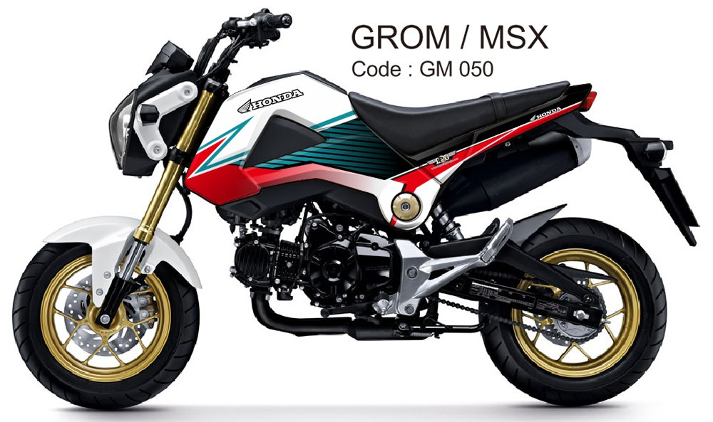 HONDA GROM 125 / MSX 125 GRAPHIC DECAL KIT CODE.GM 050