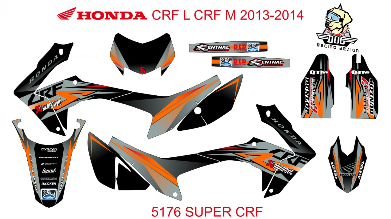 HONDA CRF L CRF M 2013-2014 GRAPHIC DECAL KIT CODE.5176