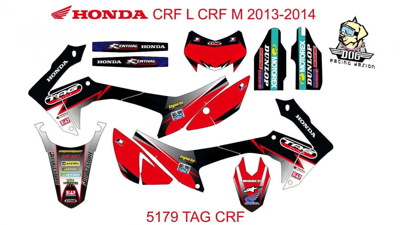 HONDA CRF L CRF M 2013-2014 GRAPHIC DECAL KIT CODE.5179