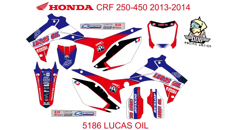 HONDA CRF 250-450 2013-2014 GRAPHIC DECAL KIT CODE.5186