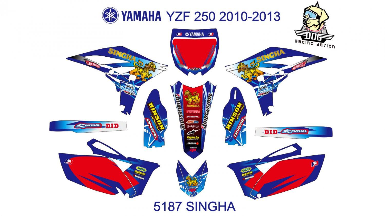 YAMAHA YZF 250 2010-2013 GRAPHIC DECAL KIT CODE.5187