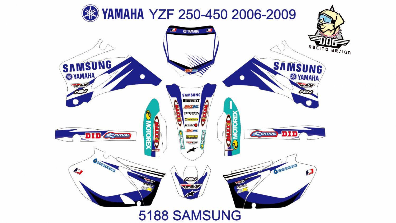 YAMAHA YZF 250-450 2006-2009 GRAPHIC DECAL KIT CODE.5188