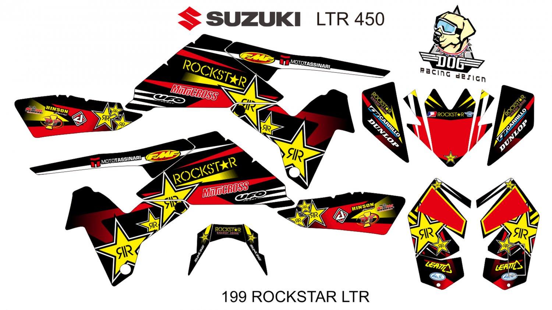 SUZUKI LTR 450 GRAPHIC DECAL KIT CODE.199