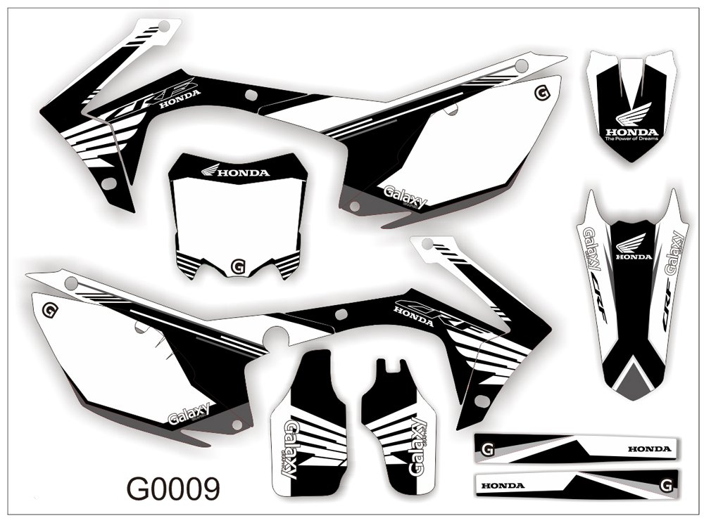 HONDA CRF 250-450 2013-2014 GRAPHIC DECAL KIT CODE.G0009