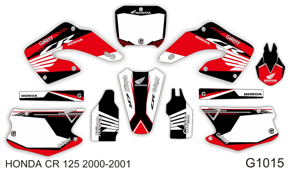 HONDA CR 125-250 2000-2001 GRAPHIC DECAL KIT CODE.G1015