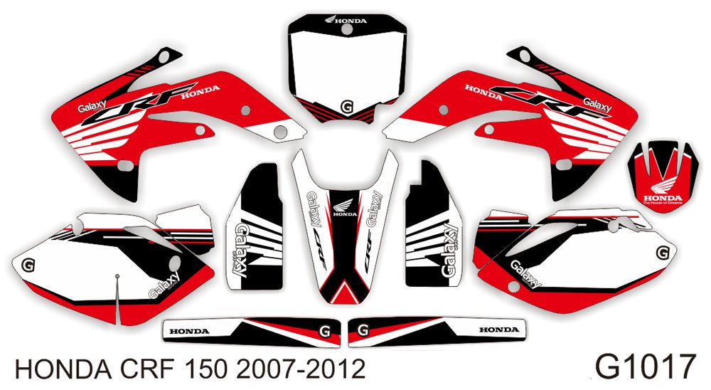 HONDA CRF 150 R 2007-2012 GRAPHIC DECAL KIT CODE.G1017