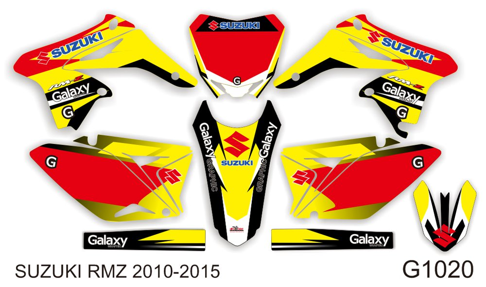 SUZUKI RMZ 250 2010-2015 GRAPHIC DECAL KIT CODE.G1020