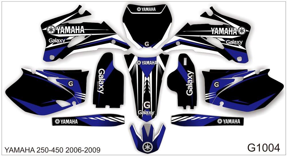 YAMAHA YZF 250-450 2006-2009 GRAPHIC DECAL KIT CODE.G1004