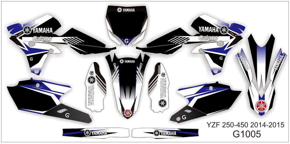YAMAHA YZF 250-450 2006-2009 GRAPHIC DECAL KIT CODE.G1005