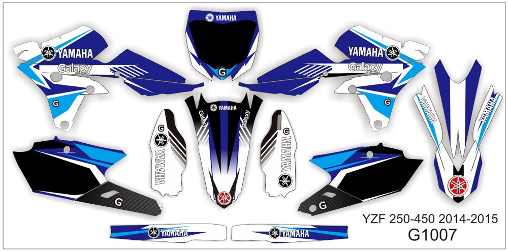 YAMAHA YZF 250-450 2006-2009 GRAPHIC DECAL KIT CODE.G1007