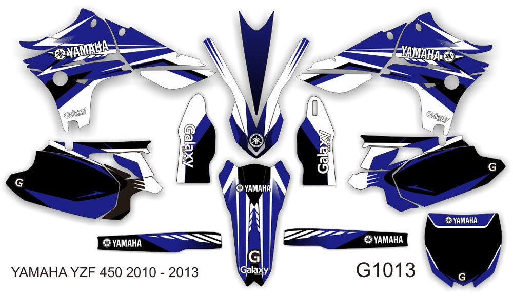 YAMAHA YZF 450 2010-2013 GRAPHIC DECAL KIT CODE.G1013