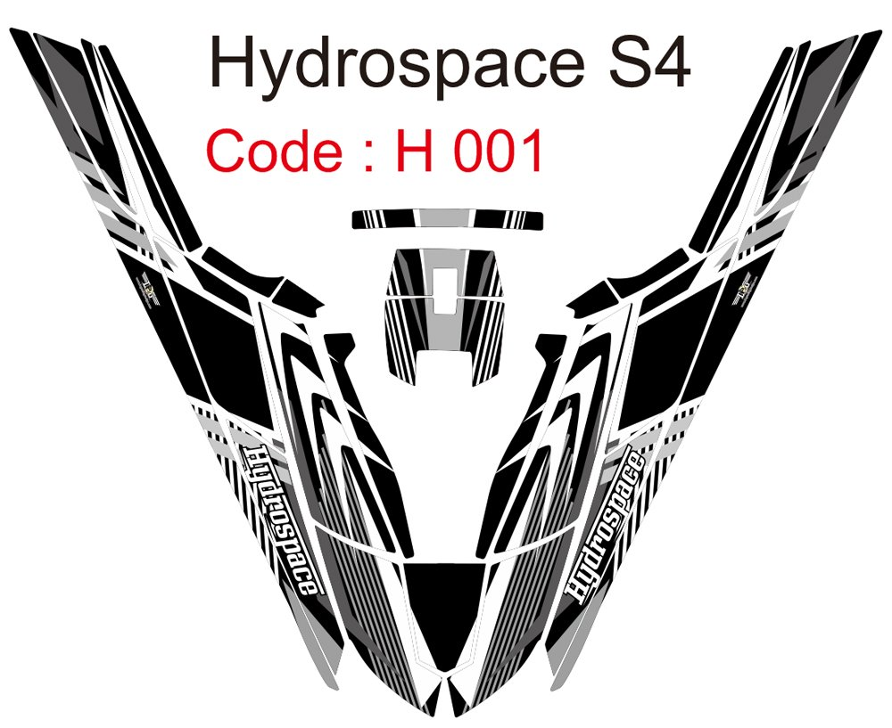 HYDROSPACE S4 JET SKI GRAPHIC DECAL KIT CODE.H 001