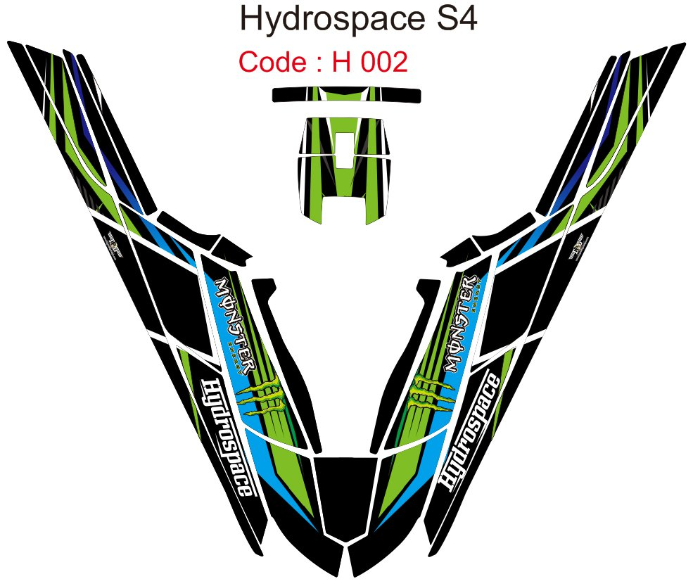 HYDROSPACE S4 JET SKI GRAPHIC DECAL KIT CODE.H 002