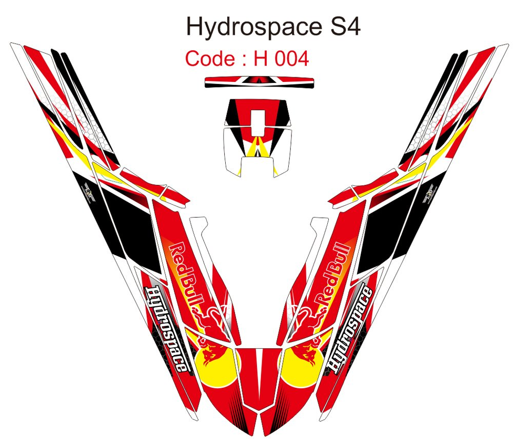 HYDROSPACE S4 JET SKI GRAPHIC DECAL KIT CODE.H 004