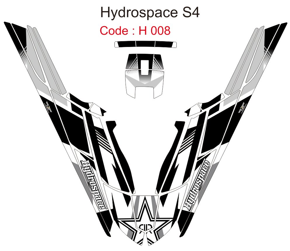 HYDROSPACE S4 JET SKI GRAPHIC DECAL KIT CODE.H 008