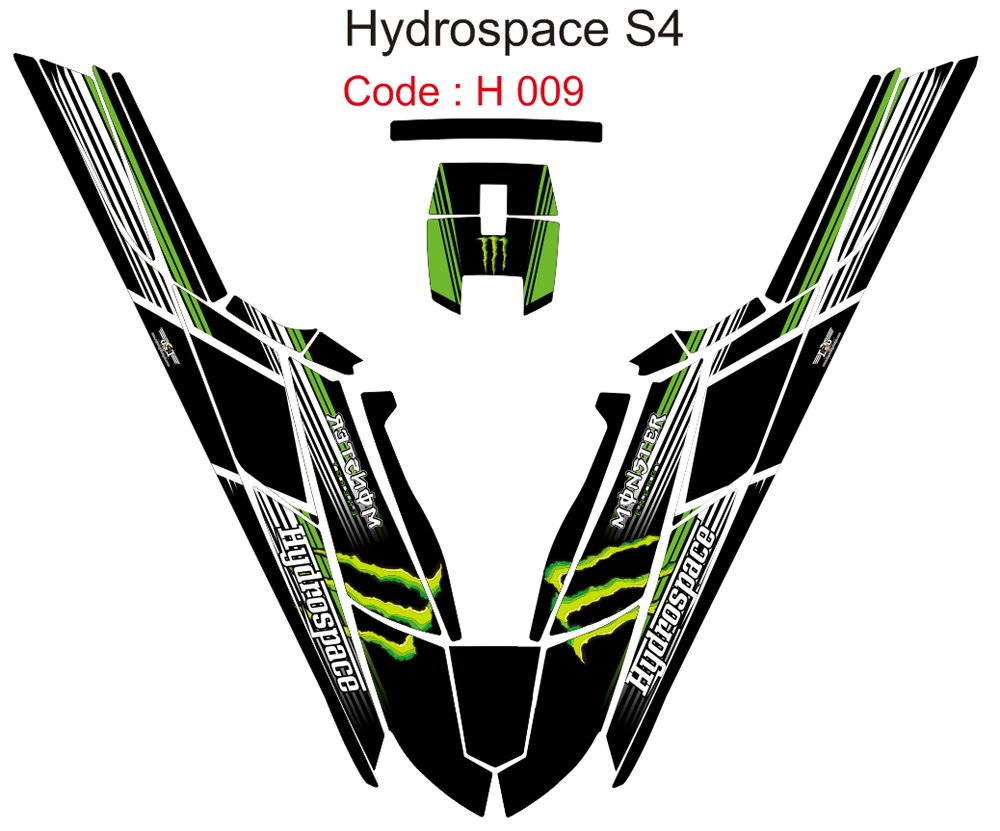 HYDROSPACE S4 JET SKI GRAPHIC DECAL KIT CODE.H 009