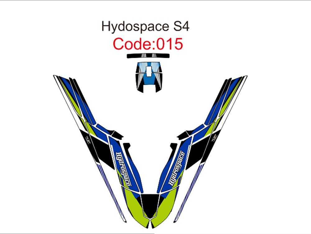 HYDROSPACE S4 JET SKI GRAPHIC DECAL KIT CODE.H 015