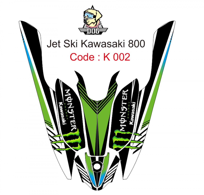 KAWASAKI 800 JET SKI GRAPHIC DECAL KIT CODE.K 002