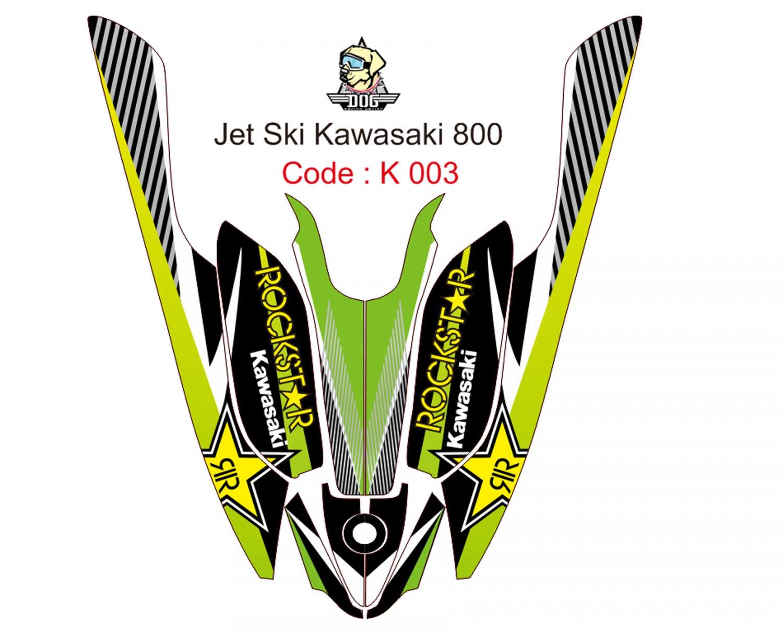 KAWASAKI 800 JET SKI GRAPHIC DECAL KIT CODE.K 003