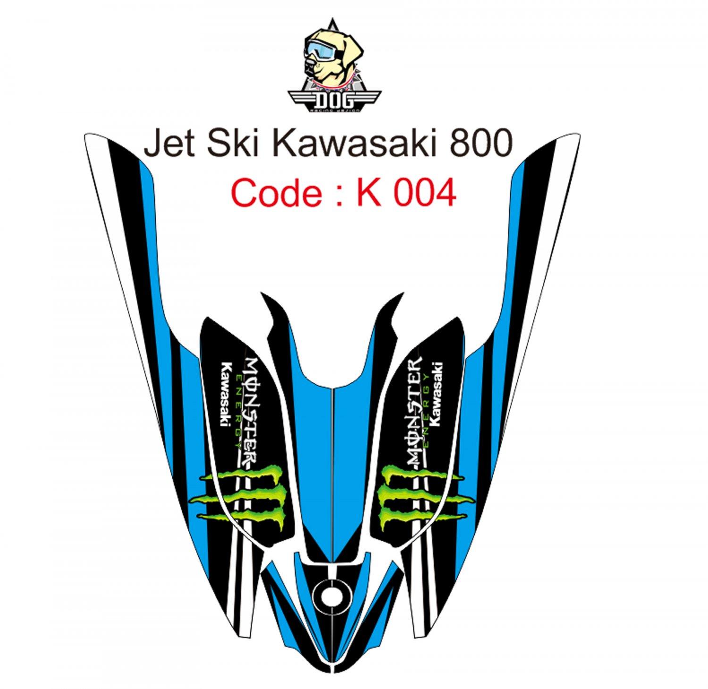 KAWASAKI 800 JET SKI GRAPHIC DECAL KIT CODE.K 004