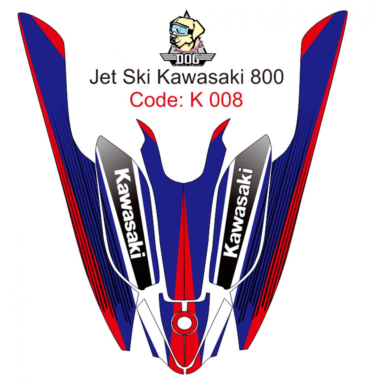 KAWASAKI 800 JET SKI GRAPHIC DECAL KIT CODE.K 008