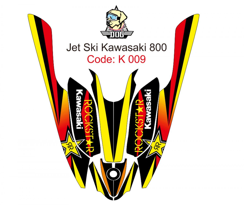 KAWASAKI 800 JET SKI GRAPHIC DECAL KIT CODE.K 009