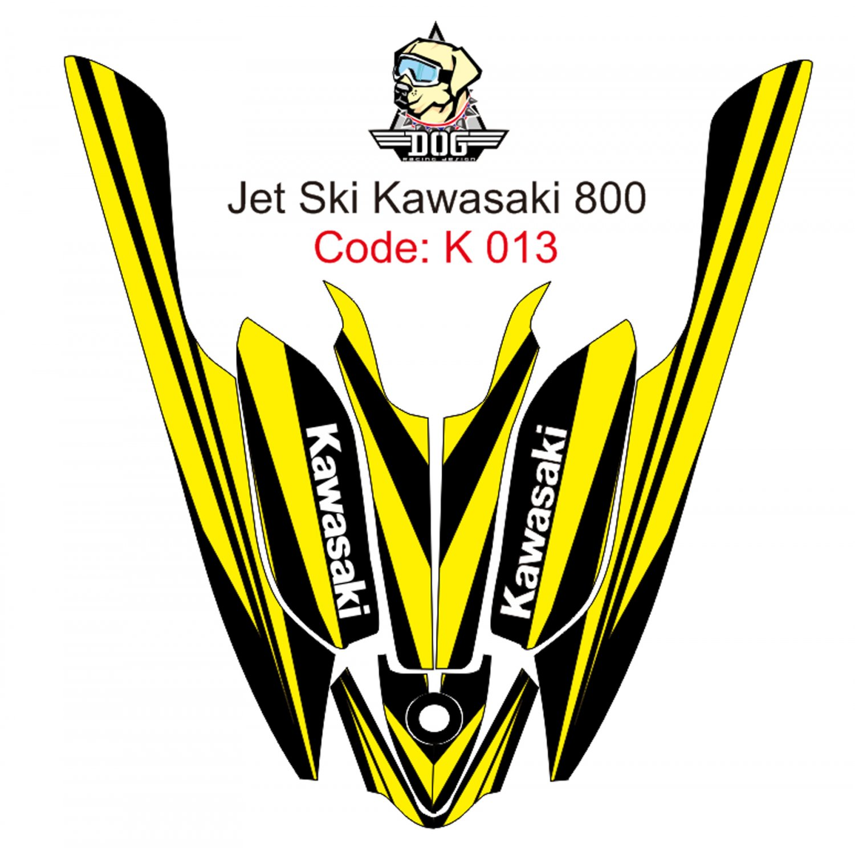 KAWASAKI 800 JET SKI GRAPHIC DECAL KIT CODE.K 013