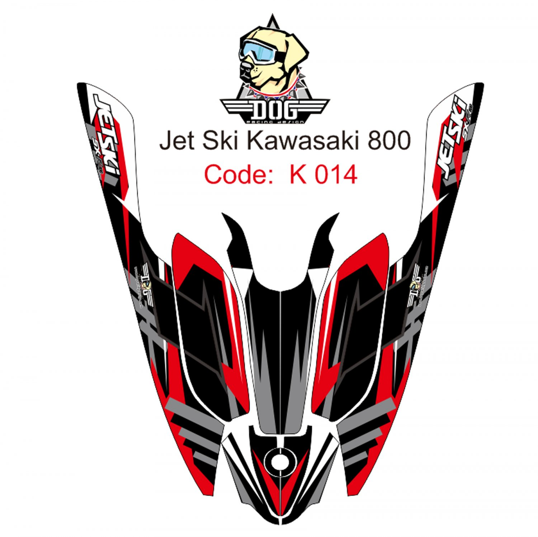 KAWASAKI 800 JET SKI GRAPHIC DECAL KIT CODE.K 014