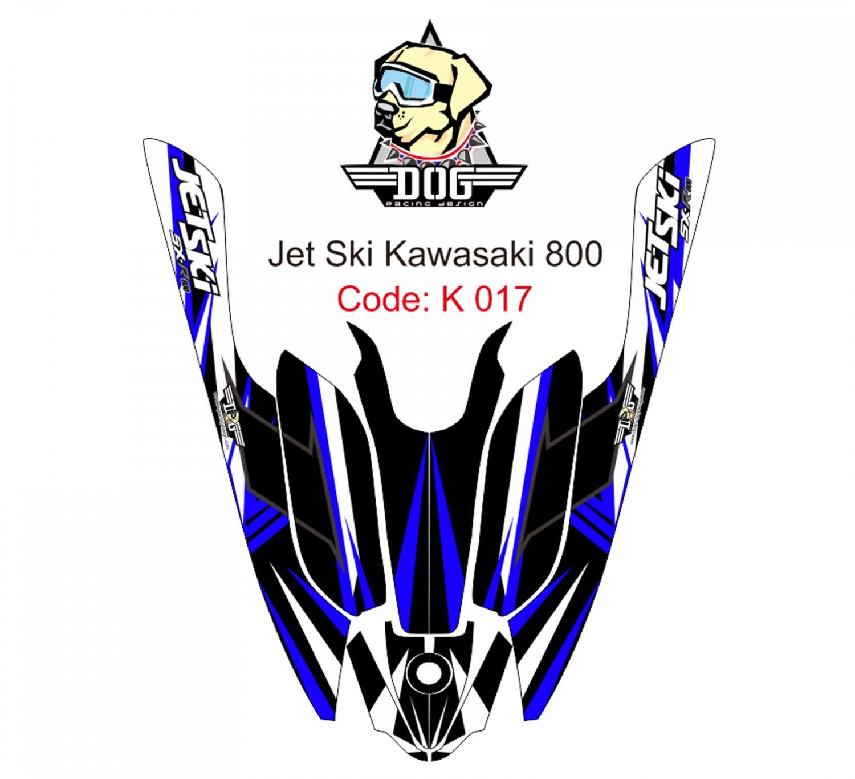 KAWASAKI 800 JET SKI GRAPHIC DECAL KIT CODE.K 017