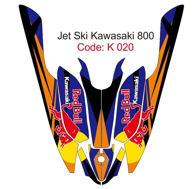 KAWASAKI 800 JET SKI GRAPHIC DECAL KIT CODE.K 020