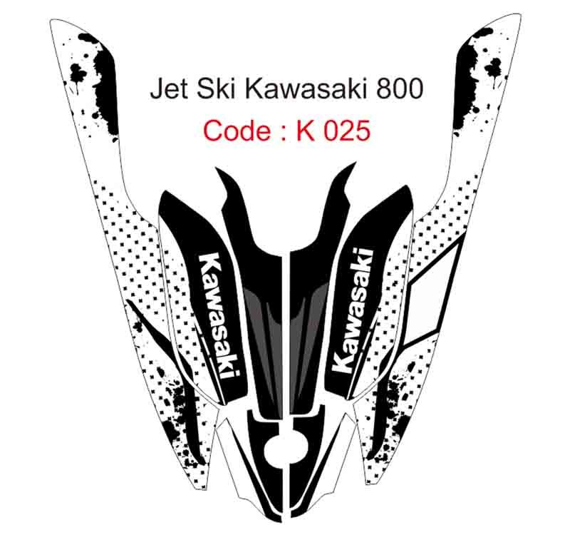 KAWASAKI 800 JET SKI GRAPHIC DECAL KIT CODE.K 025