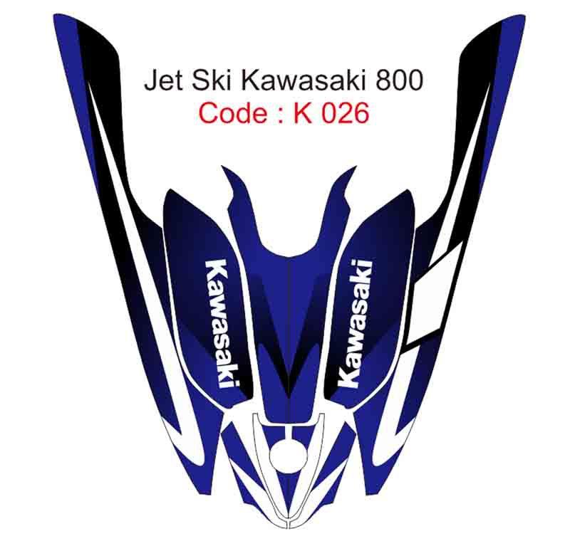 KAWASAKI 800 JET SKI GRAPHIC DECAL KIT CODE.K 026